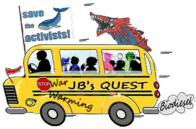 JB's Quest on school bus