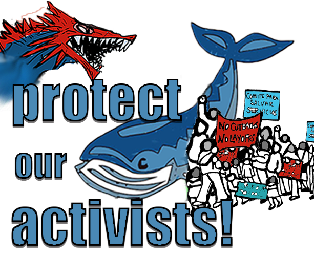 protect our activists logo