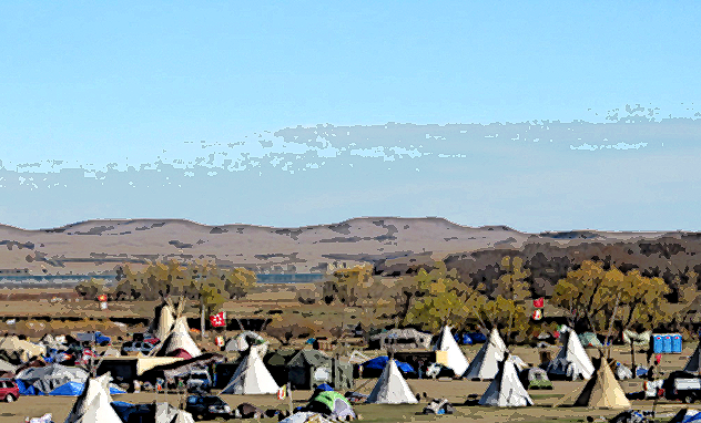 Oceti Sakowin Camp at Standing Rock